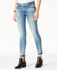 True Religion Liv Ripped Light Blue Wash Skinny Jeans