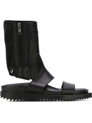 Ann Demeulemeester High Top Flat Sandals Black