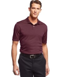John Ashford Short Sleeve Solid Textured Performance Polo Cherry Wine