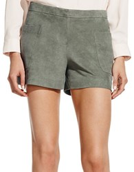 Vince Camuto Faux Suede Shorts Green