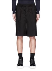 Mcq By Alexander Mcqueen Geometric Logo Patch Cotton Shorts Black