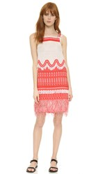 Jonathan Simkhai Scaffold Strap Dress Red White