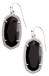 Kendra Scott Women's 'Dani' Stone Drop Earrings Black Opaque Glass Silver
