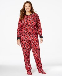 Briefly Stated Mickey Mouse Plus Size Footed Jumpsuit
