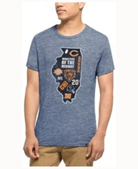 47 Brand '47 Men's Chicago Bears Home State Triblend T Shirt Gray