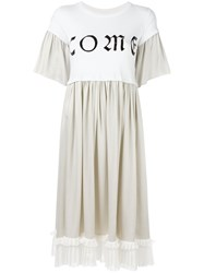 Maison Martin Margiela Mm6 Pleated T Shirt Dress White