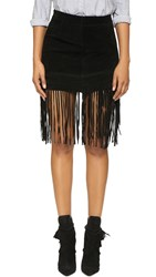 Blank Suede Fringe Skirt Seal The Deal