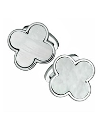 Jan Leslie Mother Of Pearl Clover Cuff Links