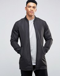 Brave Soul Long Line Jacket Black