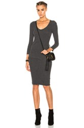 James Perse Skinny Tucked Dress In Gray