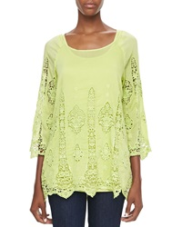 Xcvi Kensington Lace Voile Top