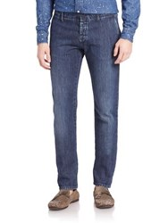 Tomas Maier Broken In Wash Jeans Dark Navy