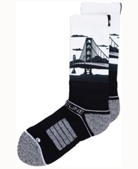 Strideline San Francisco City Socks Ii Black White
