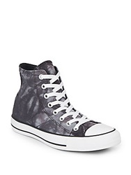 Converse Printed Canvas High Top Sneakers Black White