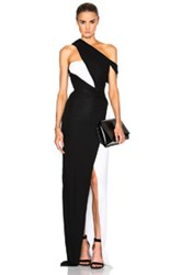 Thierry Mugler Jersey Viscose And Fitted Cady Gown In Black