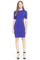 Ted Baker 'Abrial' Mesh Panel Body Con Dress Blue