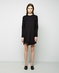 Proenza Schouler Chiffon Tweed Dress Black