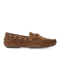 Polo Ralph Lauren Brown Wyndings Driver Suede Loafers