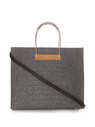 Balenciaga Cable M Crocodile Effect Felt Shopper