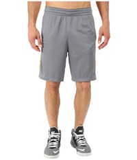 Nike Elite Stripe Short Cool Grey Vivid Orange Black Metallic Silver Men's Shorts Yellow