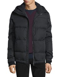 Vince Quilted Down Filled Hooded Parka Black