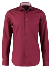 Tommy Hilfiger Tailored Slim Fit Formal Shirt Red Bordeaux