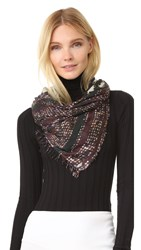 Yigal Azrouel Jagger's Teepee Scarf Pine Multi
