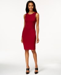 Spense Petite Side Panel Embellished Sheath Dress Zinfandel