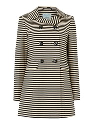Dickins And Jones Stripe Mac Coat Navy