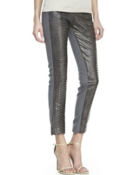 Kaufman Franco Python Front Cropped Pants 2