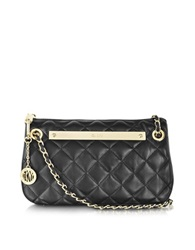 Dkny Gansevoort Quilted Nappa Clutch W Adjustable Chain Handle Black