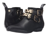 Love Moschino Double Strap Ankle Boot Black Women's Boots