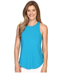 Lilla P Flame Voile Racerback Tank Top Deep Sea Women's Sleeveless Navy