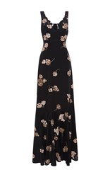 Rochas Paillette Embroidered Gown Black