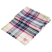 Joules Berkley Check Print Scarf Cream Multi