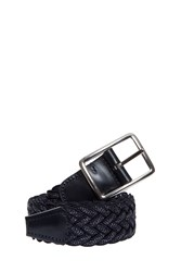 Andersons Speckled Woven Belt Navy