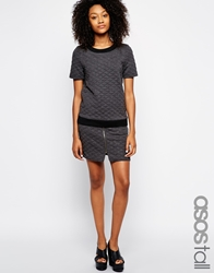 Girls On Film Tall Quilted Sweat Skirt Grey