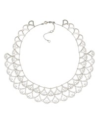 Carolee Prospect Park Dramatic Collar Necklace 16 Silver