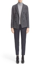 Eleventy Women's Windowpane Double Breasted Blazer