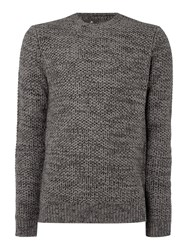 Label Lab Burke Multicoloured Crew Neck Jumper Mushroom