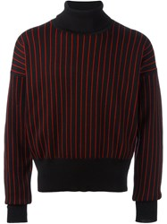 Y Project Striped Roll Neck Jumper Black