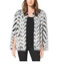 Michael Kors Faux Fur Cape Black