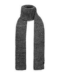 Bickley And Mitchell Chunky Knit Scarf Navy