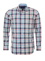 Eden Park Men's Checked Cotton Shirt With Elbow Patches Multi Coloured Multi Coloured