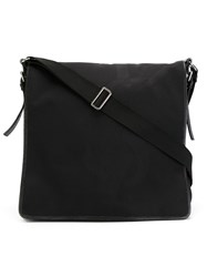 Yves Saint Laurent Vintage Woven Logo Messenger Bag Black