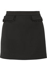 Paul And Joe Zabor Ruffle Trimmed Stretch Cady Mini Skirt
