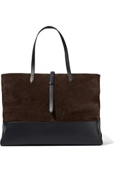 Tomas Maier Suede And Leather Tote Brown