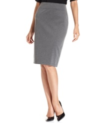 Style And Co. Pull On Ponte Knit Pencil Skirt Deep Grey Heather