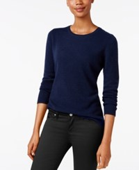 Charter Club Cashmere Crew Neck Sweater Only At Macy's 18 Colors Available Admiral Navy
