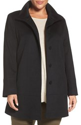 Fleurette Plus Size Women's Loro Piana Wool Car Coat